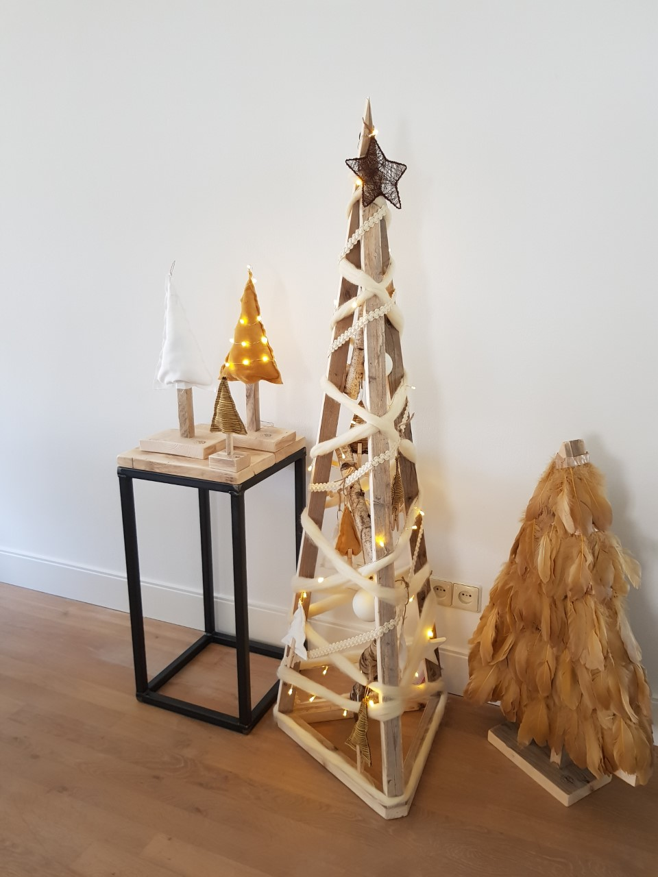 Kerstboom steigerhout 3D wit christmastree